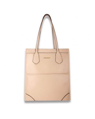 Anna Grace béžová shopper kabelka přes rameno 758 AG00758_BG