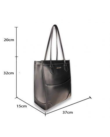 Anna Grace černá shopper kabelka přes rameno 758 AG00758_BK