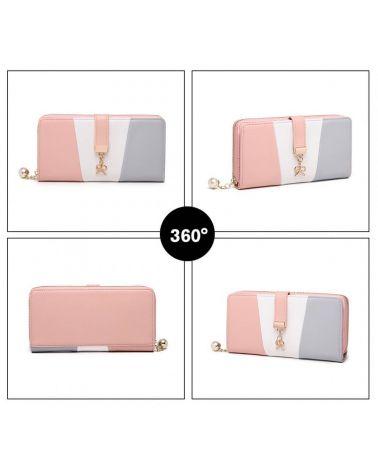Miss Lulu dámská šedá peněženka 2030 LP2030_GY