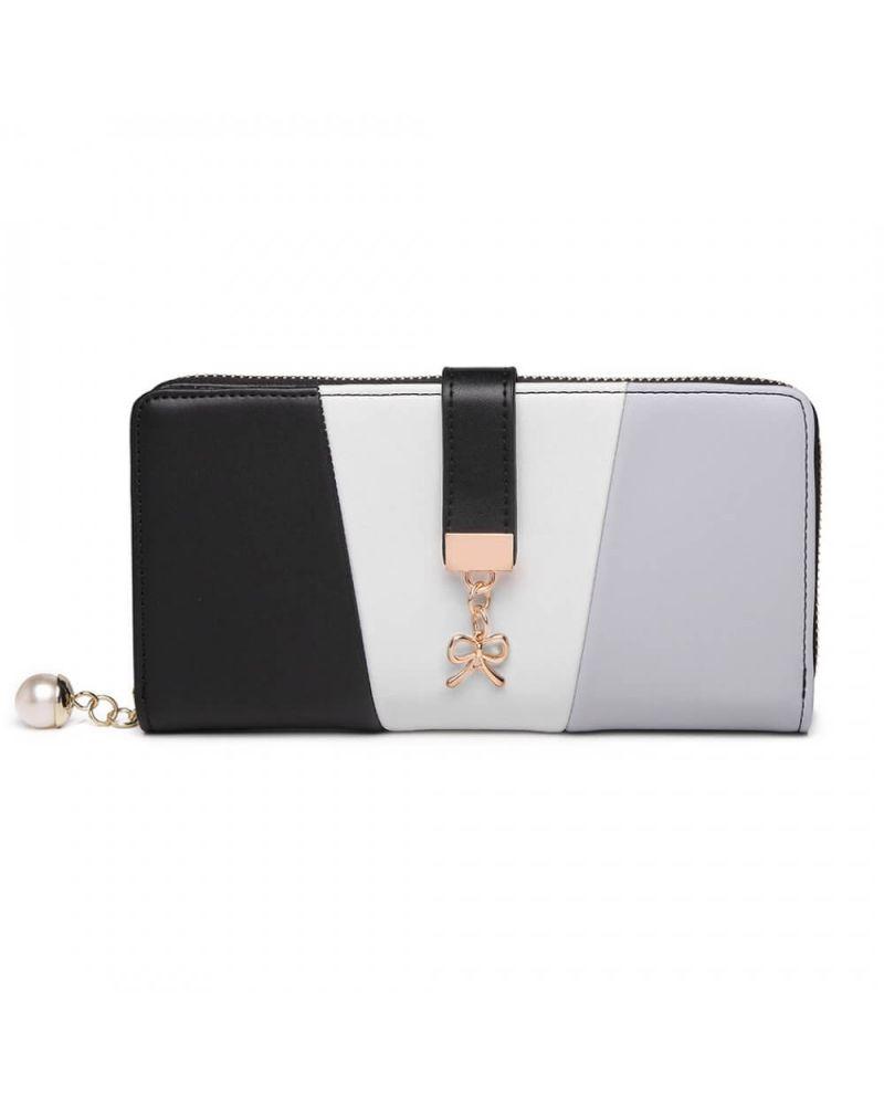 Miss Lulu dámská černá peněženka 2030 LP2030_BK