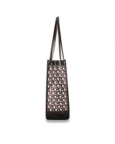 Anna Grace černobílá kabelka přes rameno NEW MONOGRAM AG 758P AG00758P_BK/WE