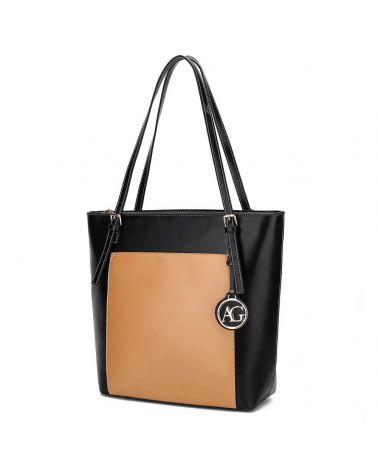 Anna Grace černá béžová kabelka přes rameno 770 AG00770_BK/NE