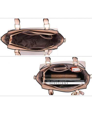Anna Grace nude - béžová kabelka tote 764a AG00764a_NE