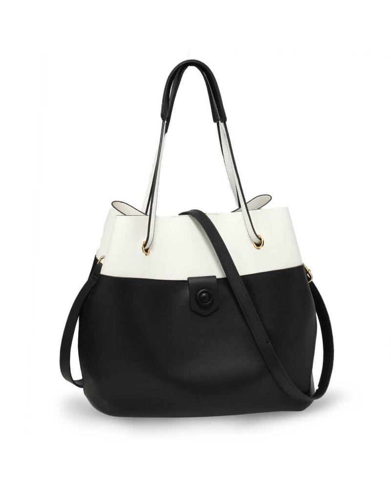 Anna Grace černobílá hobo kabelka s pouzdrem 190b AG00190b_BK/WE