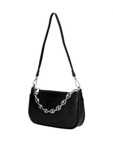 Dámská malá černá kabelka přes rameno CROCO 2001 M2001_BK