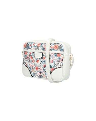 Am Montreux bílá květovaná kabelka crossbody 0118 AM0118_WE