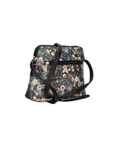 Am Montreux květovaná kabelka crossbody černá 0120 AM0120_BK