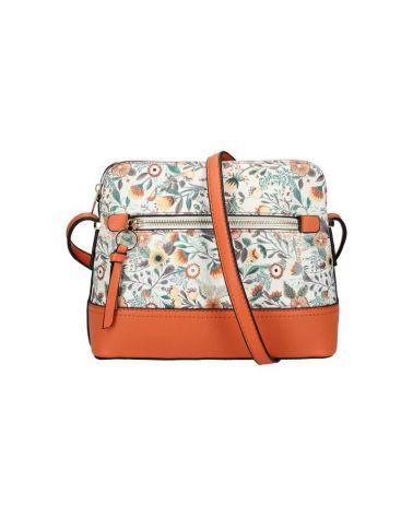 Am Montreux květovaná kabelka crossbody oranžová 0120 AM0120_OE
