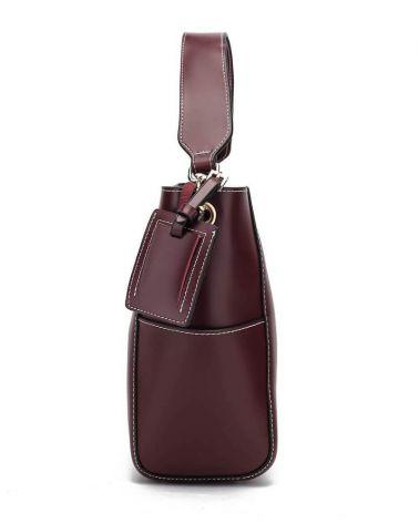 Anna Grace kabelkový set hobo vínový TRAVEL 762a AG00762a_BY