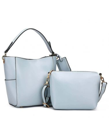 Anna Grace kabelkový set hobo světle modrý TRAVEL 762a AG00762a_BE