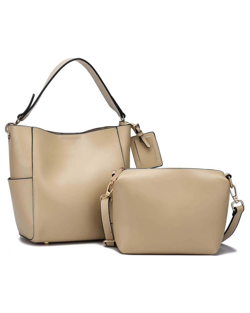 Anna Grace kabelkový set hobo světle béžový TRAVEL 762a AG00762a_BG
