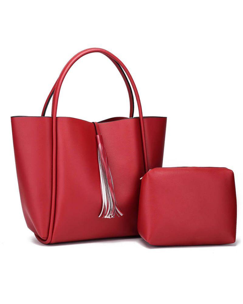 Anna Grace kabelkový set shopper vínový TASSEL 756a AG00756a_BY