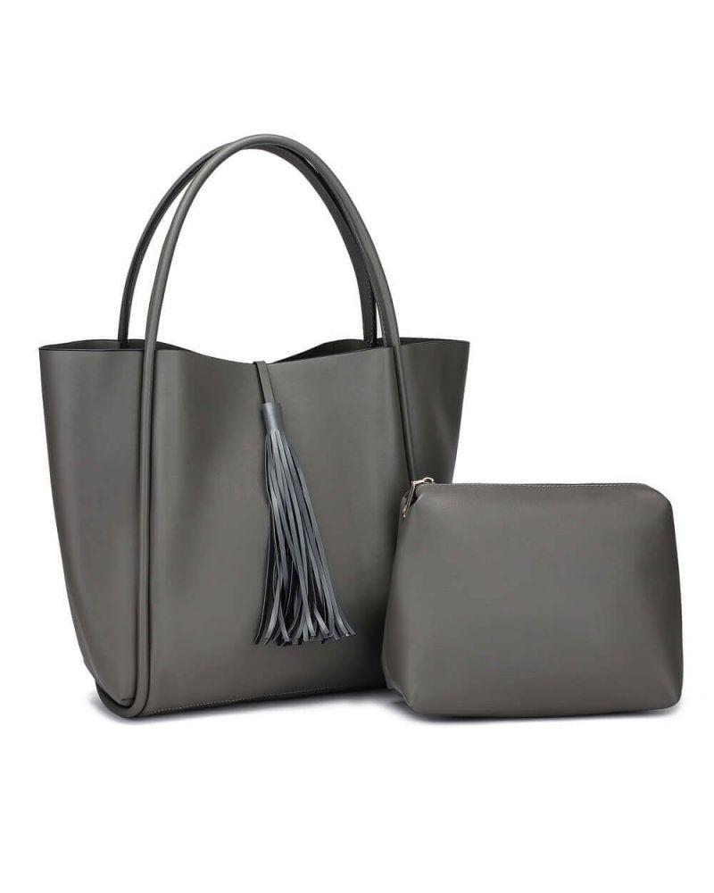 Anna Grace kabelkový set shopper šedý TASSEL 756a AG00756a_GY