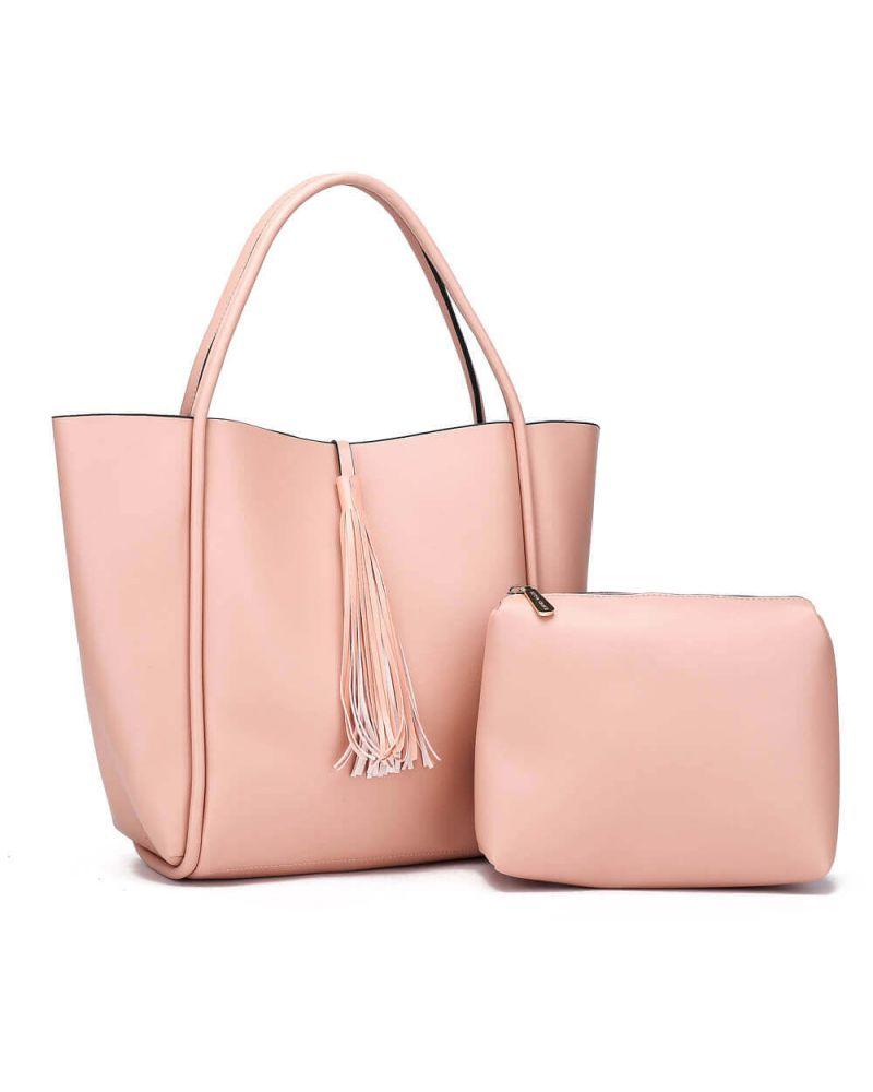 Anna Grace kabelkový set shopper růžový TASSEL 756a AG00756a_PK