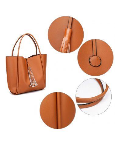 Anna Grace kabelkový set shopper hnědý TASSEL 756a AG00756a_BN