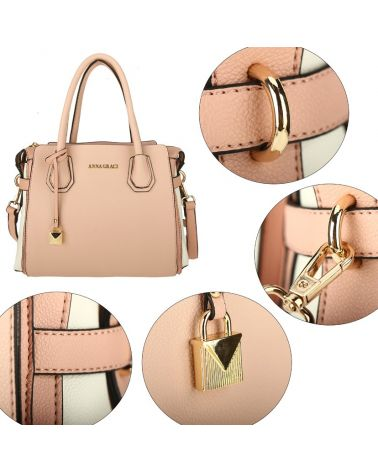 Anna Grace růžová kabelka přes rameno 750 AG00750_PINK