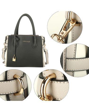 Anna Grace černá-šedá kabelka přes rameno 750 AG00750_BLACK/GRAY