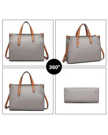 Miss Lulu kabelkový set 2 v 1 business GREY 1910 LN1910_GY