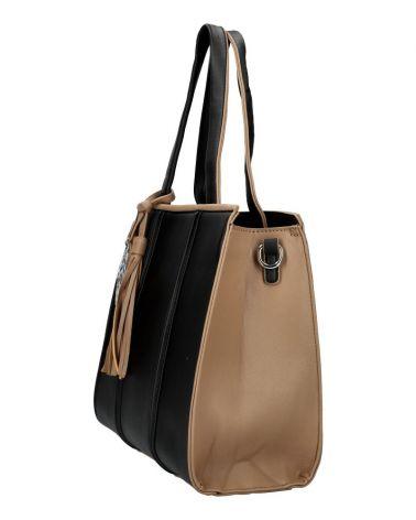 Kabelka shopper MARIA C LEAF BLACK 1059 MC1059_BK