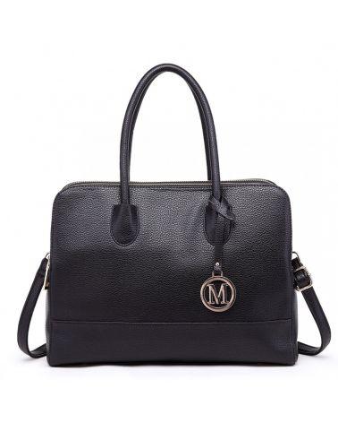 Miss Lulu černá shopper kabelka 1726 LT1726_BK
