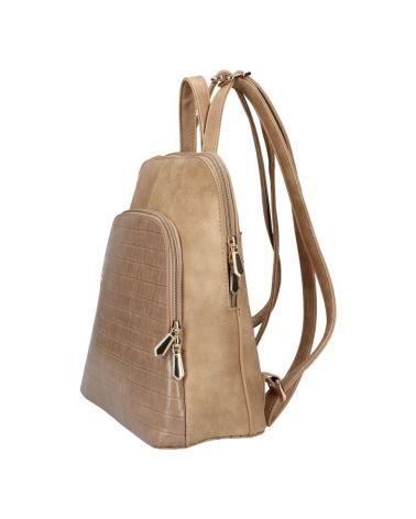 Dámský městský batoh AM DUO TAUPE 106 AM0106_TE