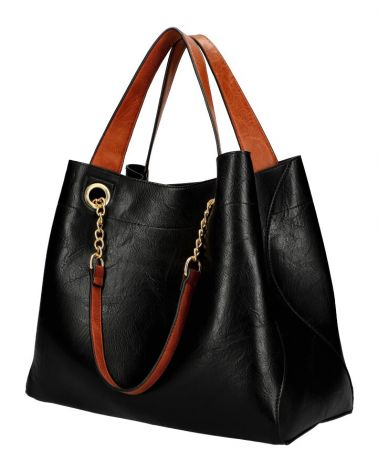 Am Montreux SET shopper kabelka CHAIN BLACK 9265 9265_BK
