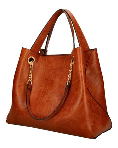 Am Montreux SET shopper kabelka CHAIN BROWN 9265 9265_BN