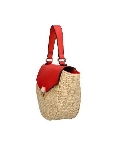 Valentina Madrid béžová kabelka LAURA RED 28026 VM28026_RD
