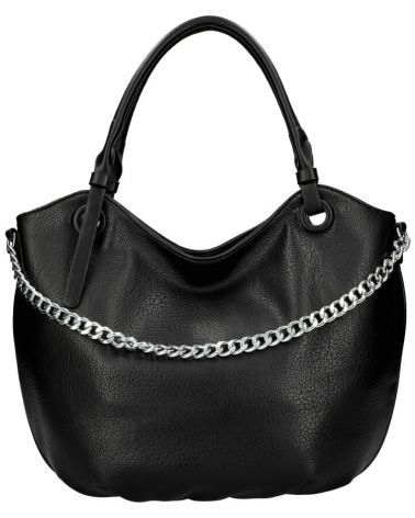 Am Montreux kabelka shopper SILVER CHAIN BLACK 6301 6301_BK