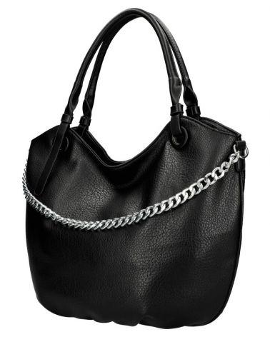 Am Montreux kabelka shopper SILVER CHAIN BLACK 6301 6301_BK