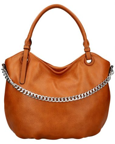 Am Montreux kabelka shopper SILVER CHAIN BROWN 6301 6301_BN
