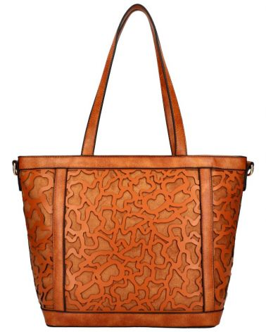 Am Montreux shopper kabelka LASER CUT BROWN 136 AM0136_BN