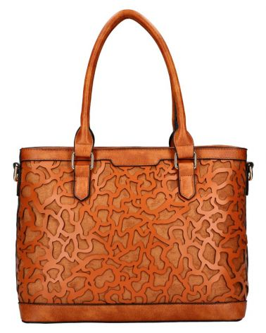 Am Montreux shopper kabelka LASER CUT BROWN 140 AM0140_BN