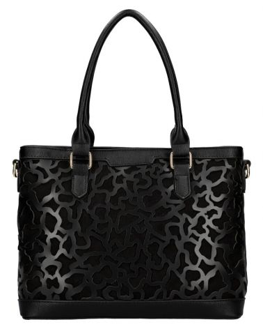 Am Montreux shopper kabelka LASER CUT BLACK 140 AM0140_BK