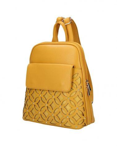 Dámský městský batoh PERFORATED DESIGN YELLOW 109 AM0109_YW