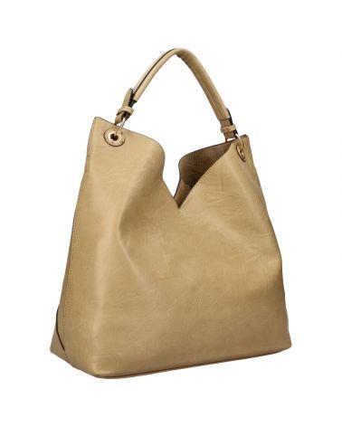 Am Montreux SET velká kabelka hobo béžová 9281 9281_TE