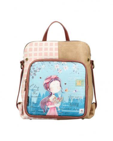 Sweet & Candy dámský batoh PATCHWORK BLUE 53 C053_BE