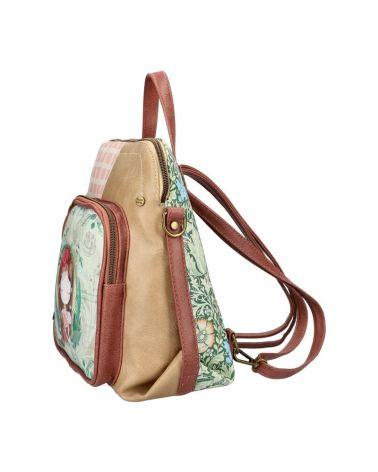 Sweet & Candy dámský batoh PATCHWORK GREEN 53 C053_GN