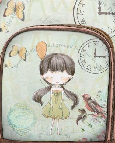 Sweet & Candy dámský batoh SMILE CLOCK 828 SWC828-6_GN