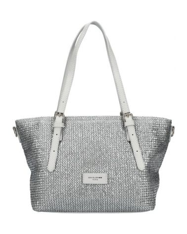 David Jones kabelka KNITTED LOOK GREY 6526 6526_GY