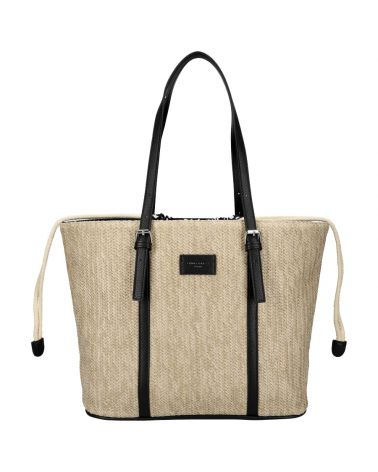 David Jones kabelka RAFFIA SHOPPER BLACK 6283 6283_BK