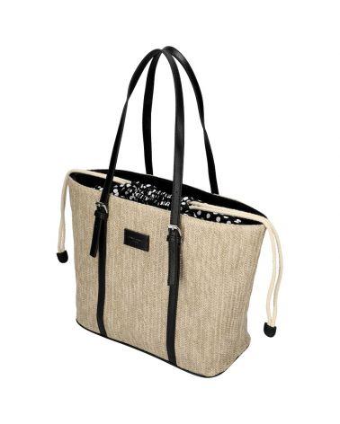 David Jones kabelka RAFFIA SHOPPER BAG černá 6283 6283_BK