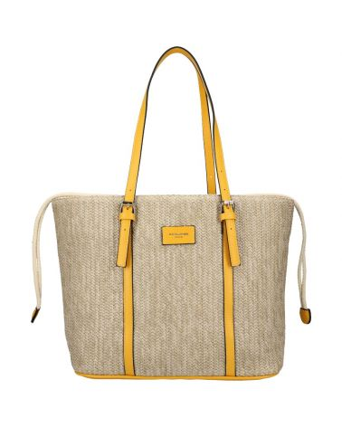 David Jones kabelka RAFFIA SHOPPER YELLOW 6283 6283_YW