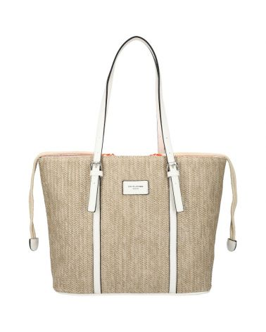 David Jones kabelka RAFFIA SHOPPER WHITE 6283 6283_WE