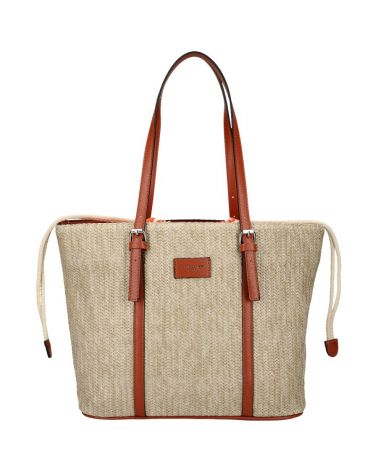 David Jones kabelka RAFFIA SHOPPER COGNAC 6283 6283_CC