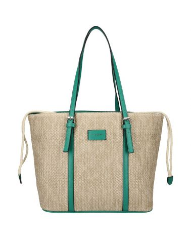 David Jones kabelka RAFFIA SHOPPER GREEN 6283 6283_GN