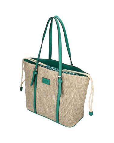 David Jones kabelka RAFFIA SHOPPER BAG zelená 6283 6283_GN