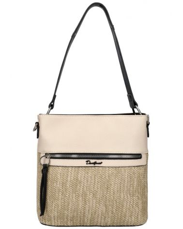 David Jones kabelka RAFFIA CROSSBODY CREAM 6514 6514_CM