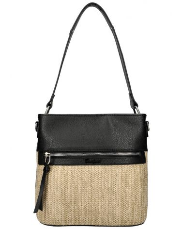 David Jones kabelka RAFFIA CROSSBODY BLACK 6514 6514_BK
