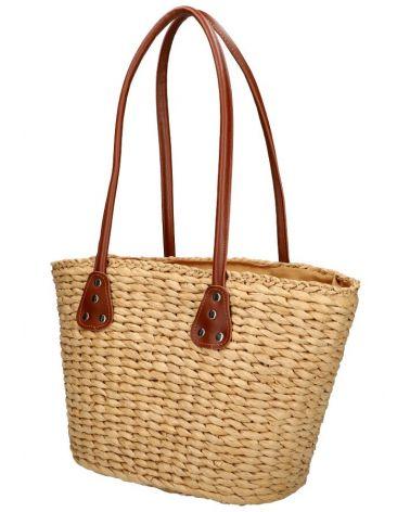David Jones velká shopper taška WICKER BEACH BEIGE 32 YQ32_BG